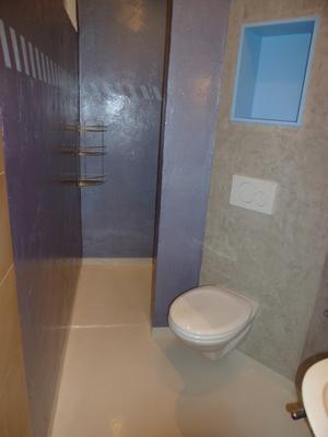 F.R.E - Douche et WC local à surface limitée (2.5m²)