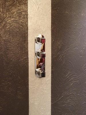 F.R.E - Projet douche, enduit décoratif et résine sol